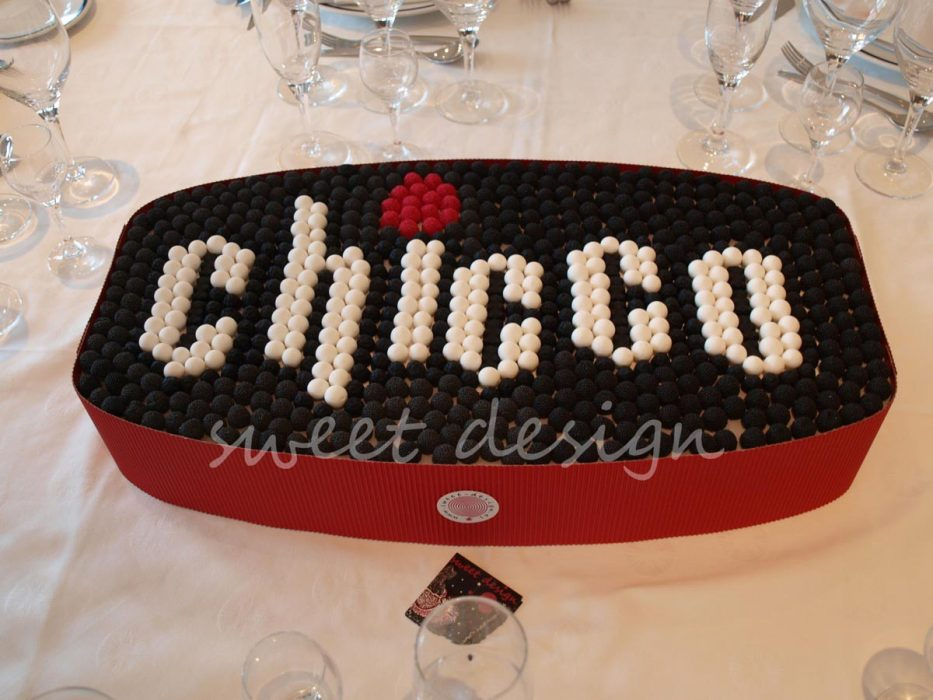 Logotipo Chicco con golosinas
