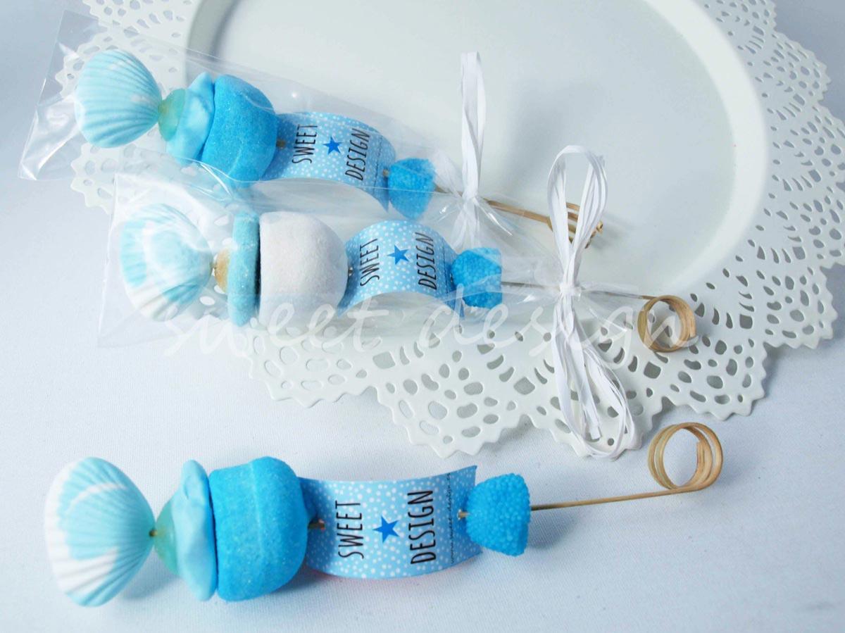 Brocheta azul sweet design for Ideas para mesas de chuches