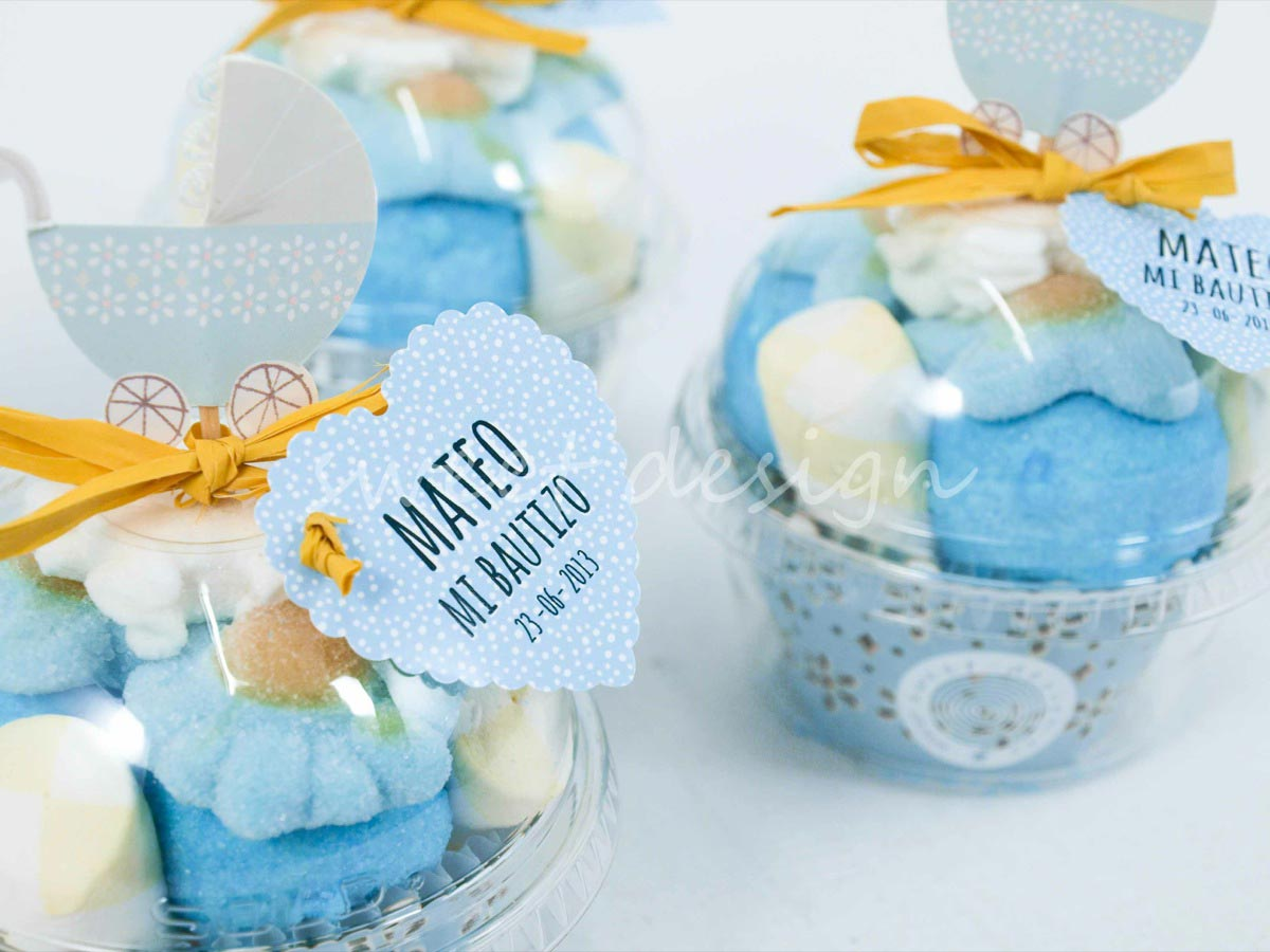 Online dise os con chuches cup cakes vasito cup cake con - Chuches para bautizo ...