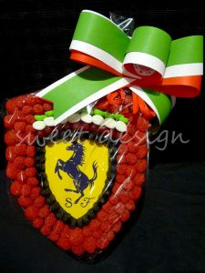 Logotipo de Ferrari de gominolas