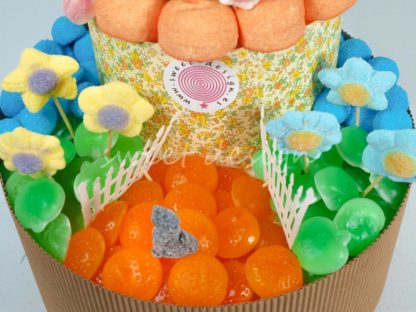 chuches en forma de flor para una tarta