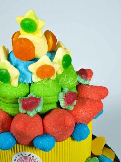 Chuches en forma de estrella para una tarta