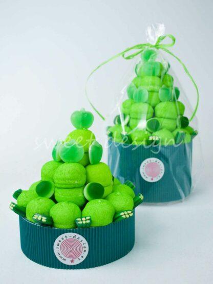 Tarta de chuches color verde