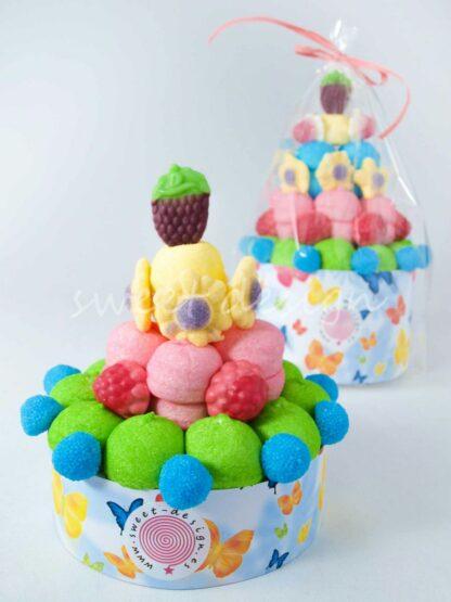 Tarta de chuches colores primaverales