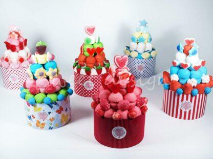 Tartas de chucherías de colores