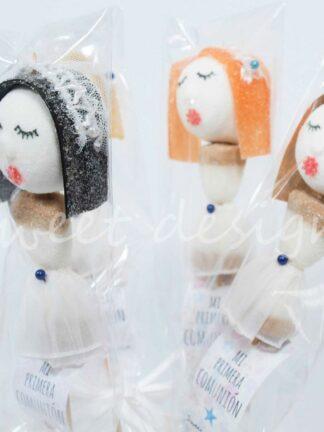 Muñecas de comunión de chucherías