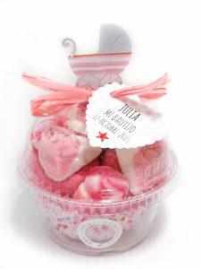 Golosinas rosas bebé