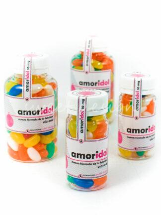 Botes de medicamentos con Jelly beans