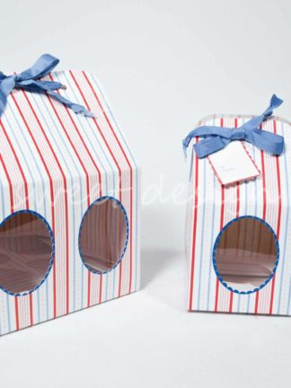 Caja con lazo para dulces