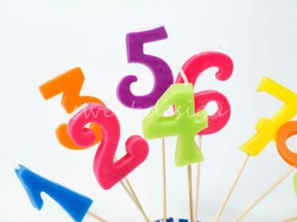 Velas cumpleaños de colores