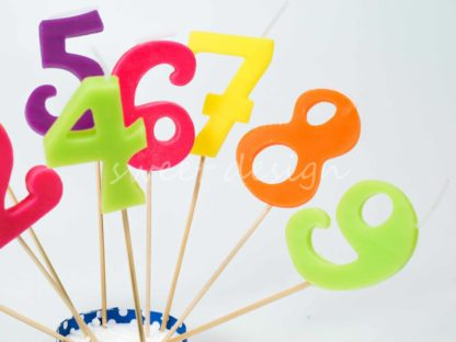 Velas de números
