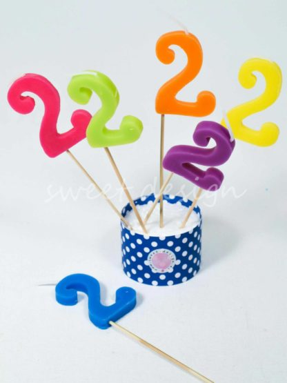 Velas cumpleaños 2 años
