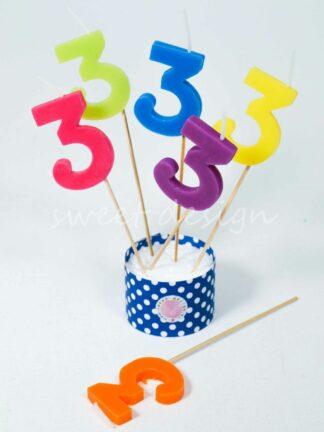 Velas cumpleaños 3 años