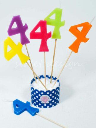 Velas cumpleaños 4 años