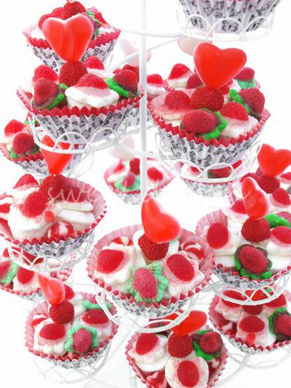 Cup cakes de chuches para buffet de boda