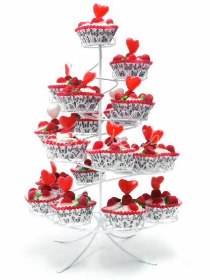 Expositor de cup cakes de chuche para mesa dulce