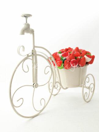 Bici con bouquet de chucherías