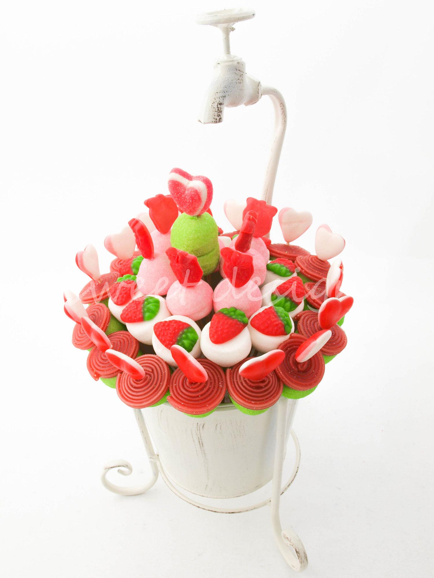 Dise o en forja con grifo rojo verde blanco sweet design - Precios de centros de mesa para boda ...