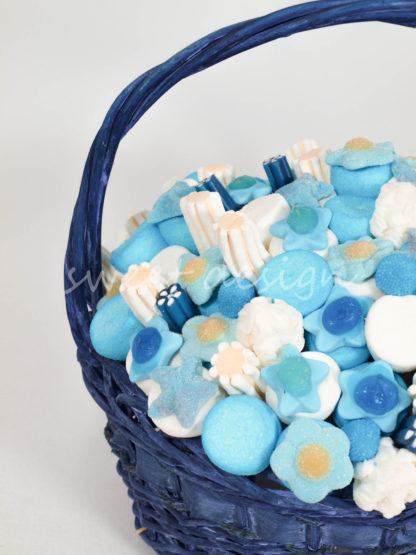Regalo chucherias azul para babyshower