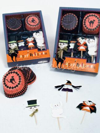 Adornos para cup cakes de halloween