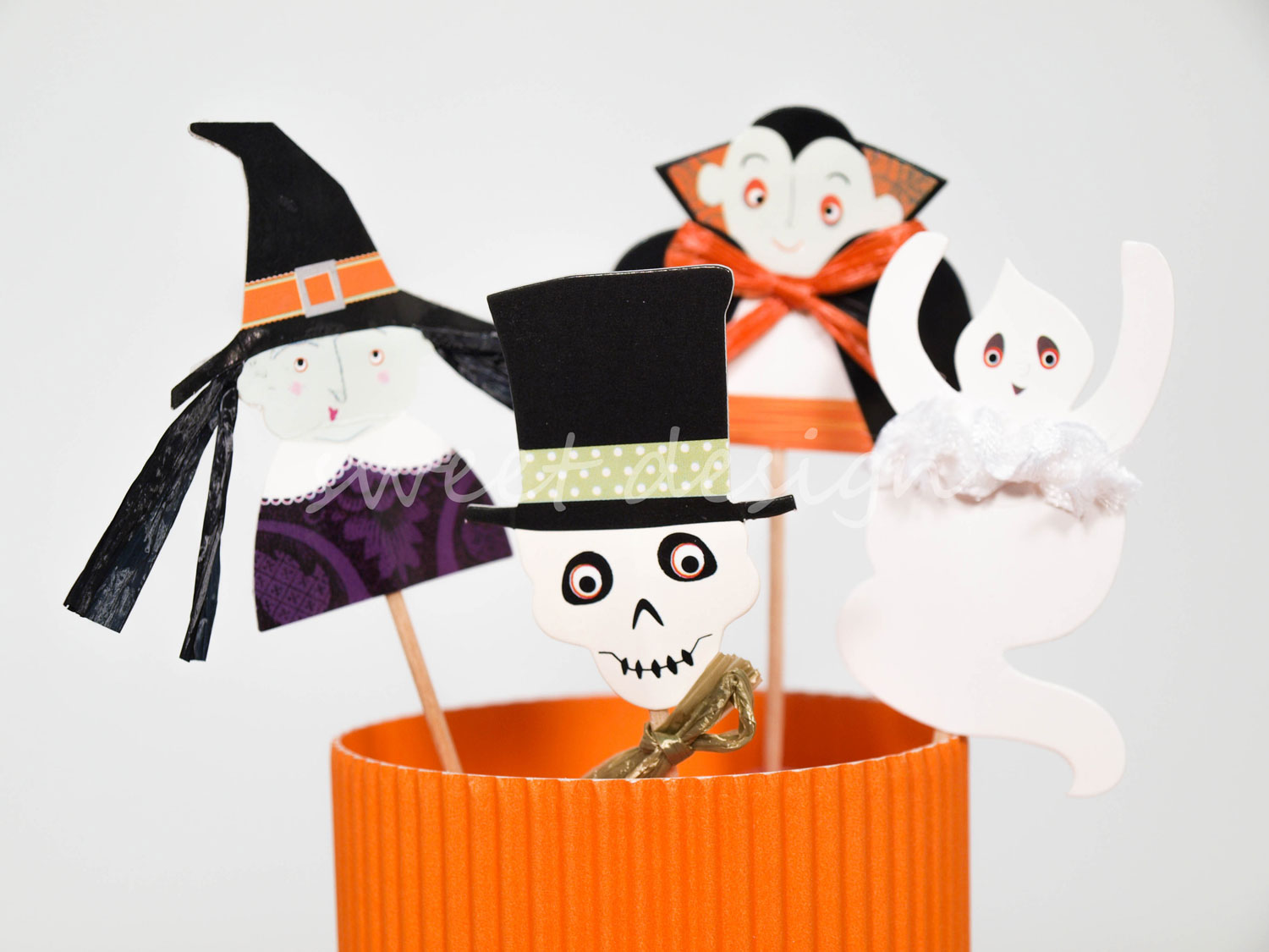 Cupcake kit de halloween 24 c psulas y 24 pics sweet for Articulos decoracion halloween