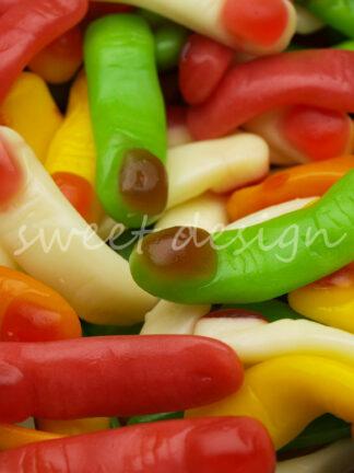 Dedos de gominola de Halloween al peso