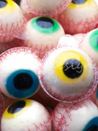 Ojos de gelatina de chuche para Halloween