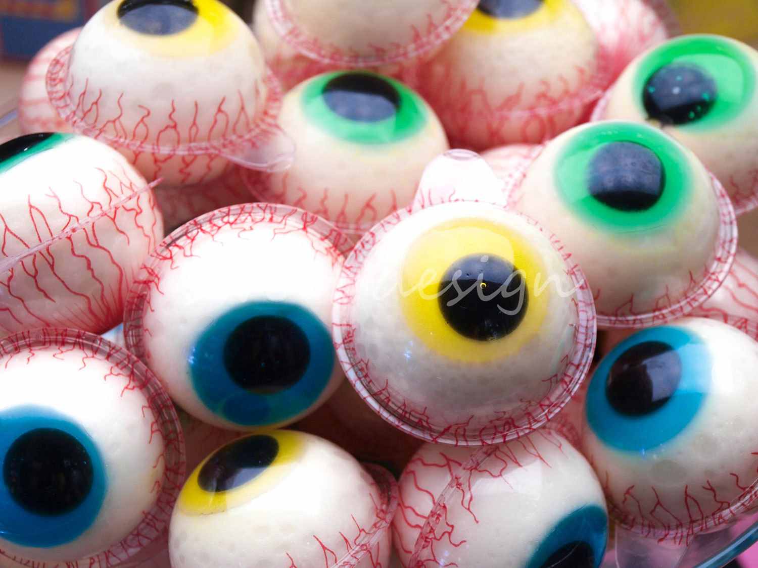 ojos de gelatina sweet design On ojos halloween