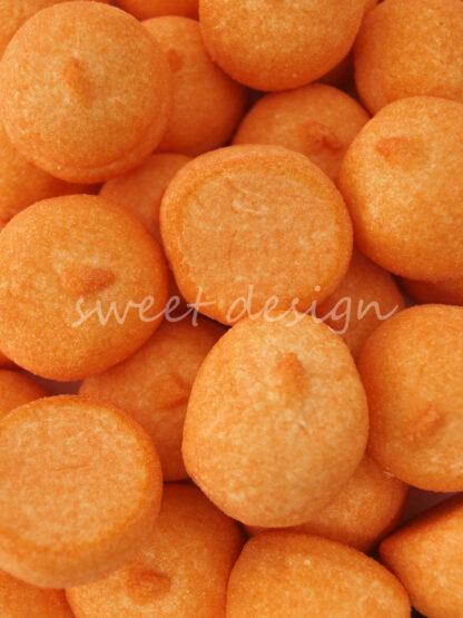 Bolas Naranjas de Espuma Dulce para mesas de Golosinas