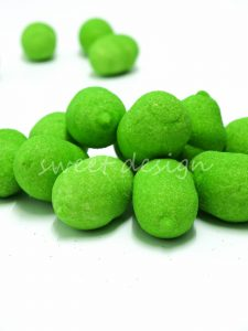 Melones de espuma dulce chuches verdes