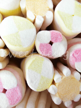 Marshmallow variado para buffet de chuches multicolor