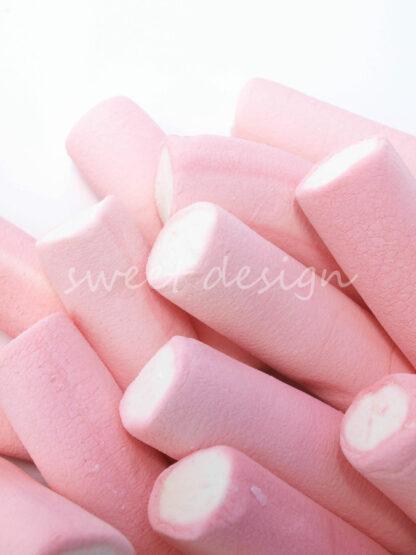 Nubes tradicionales bicolor blanco y rosa fresa