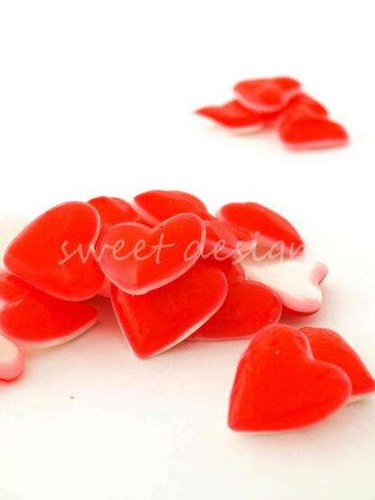 Chuches con forma de corazón para tartas de golosinas