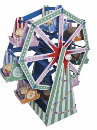 Expositor para Cup Cakes de Noria para fiestas de Cumpleaños