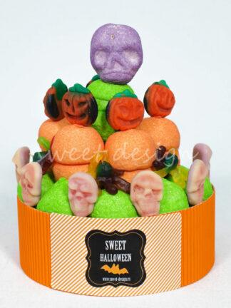 Tarta de Golosinas Motivo Halloween