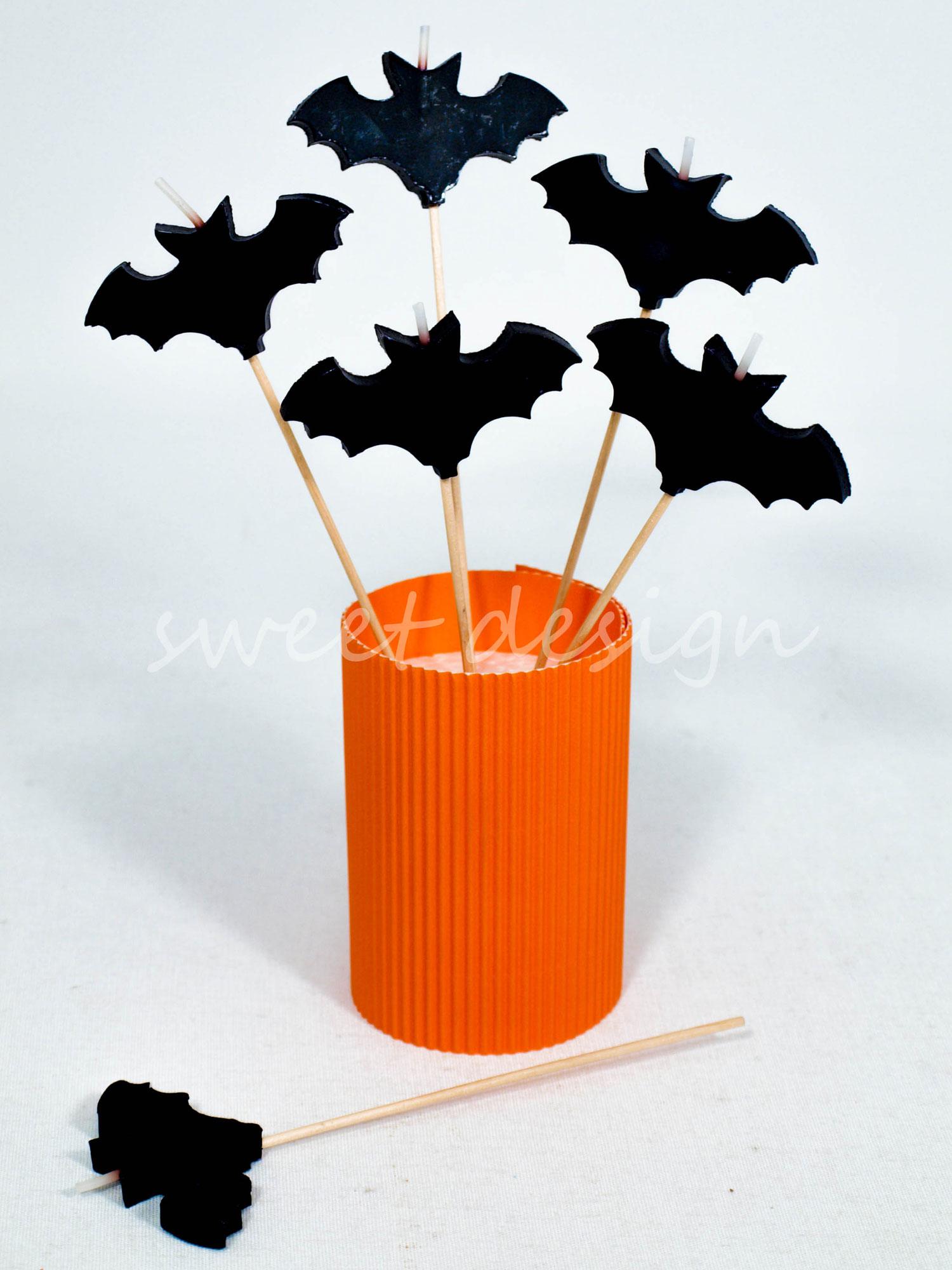 Vela de murci lago sweet design - Murcielago halloween ...