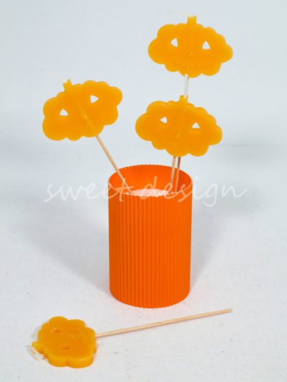 Vela de Calabaza Naranja de Halloween