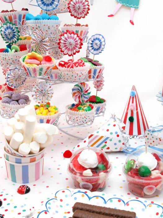 Expositor cupcakes de chuches