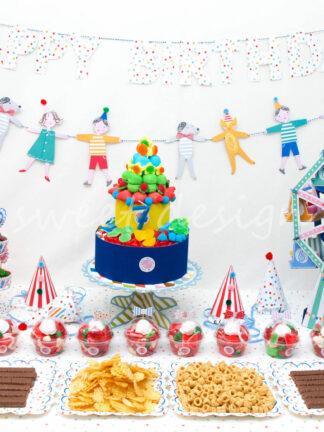 Buffet de Golosinas para fiesta infantil de circo
