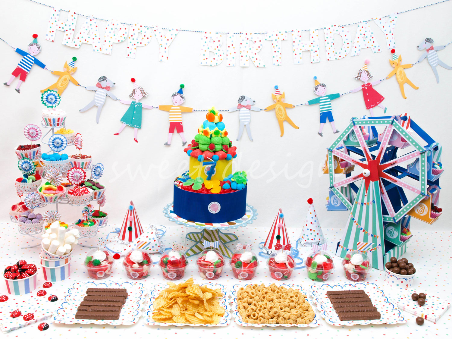 Composici n de buffet circo sweet design - Ideas originales para un cumpleanos ...