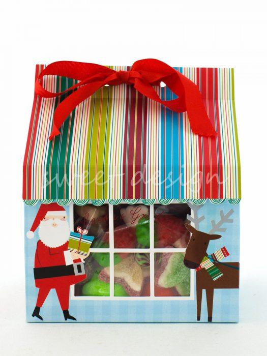 Casita de Navidad Rellena de Chuches
