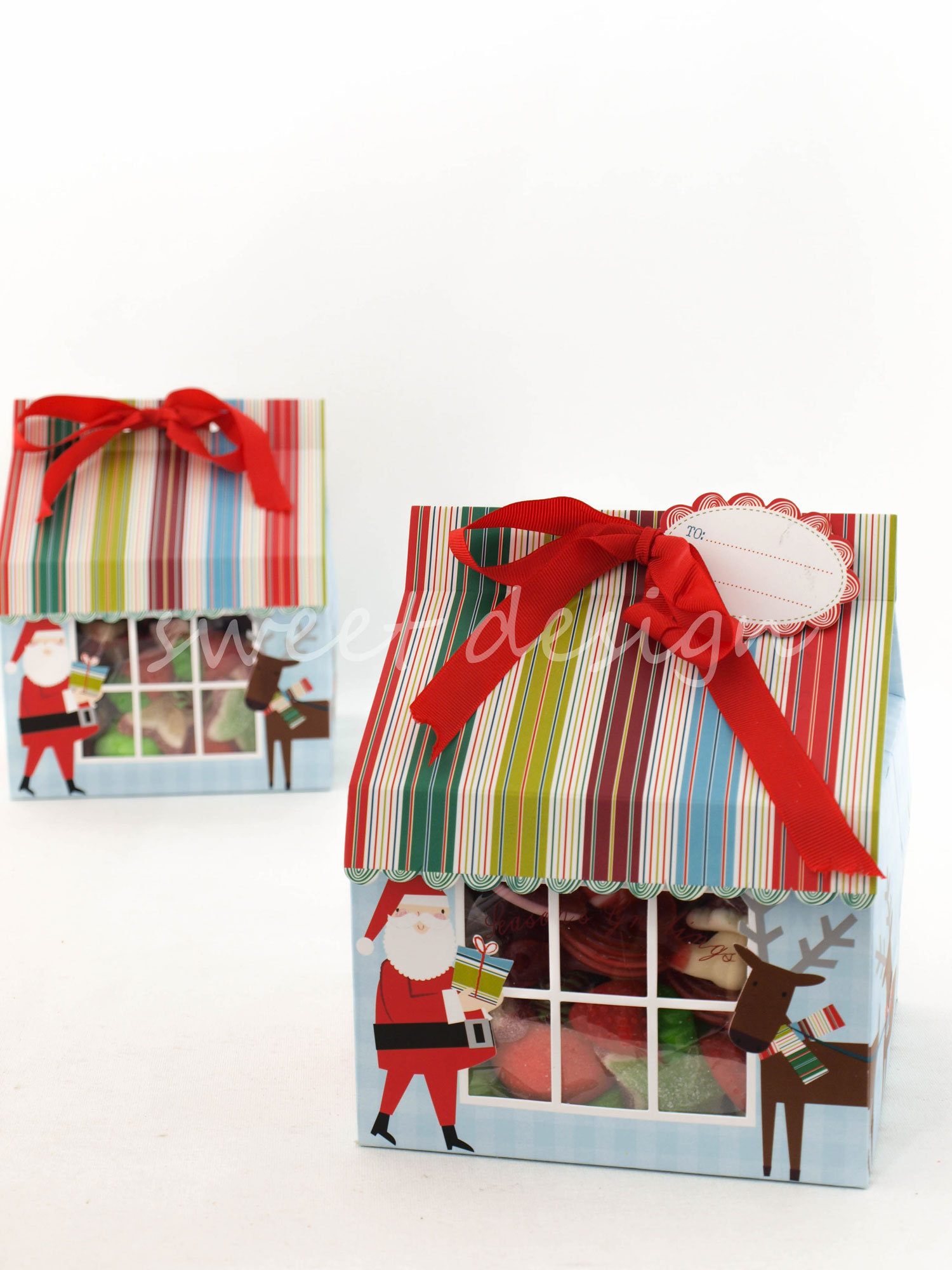 Casita de navidad con chuches s lo casita sweet design - Casitas de navidad ...