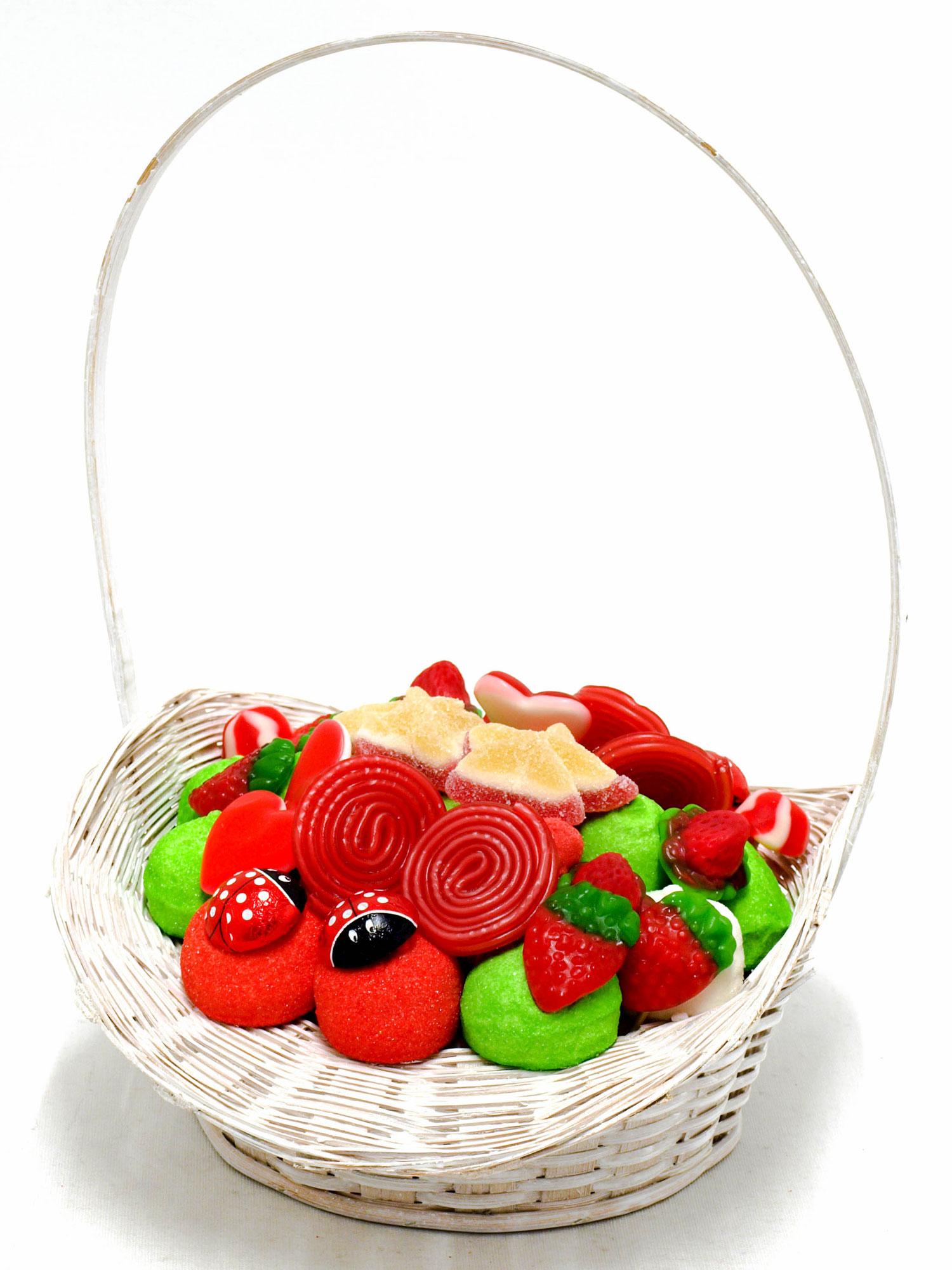 Cesta blanca de navidad mediana sweet design for Cesta arbol navidad