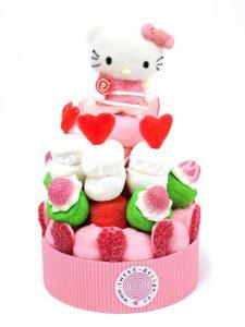 Tarta de chucherías rosas de Hello Kitty