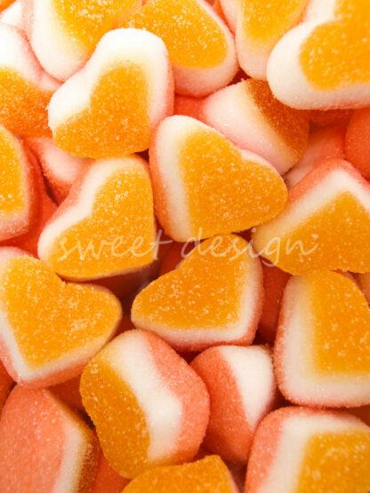 Gominolas Naranjas de Corazón Melocotón