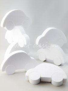 Base de Corcho Blanco con Forma de Coche