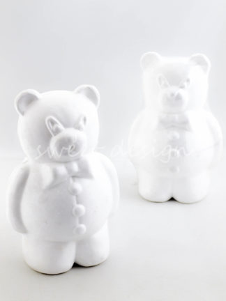 Oso de porex o corcho blanco para hacer escultura de chuches