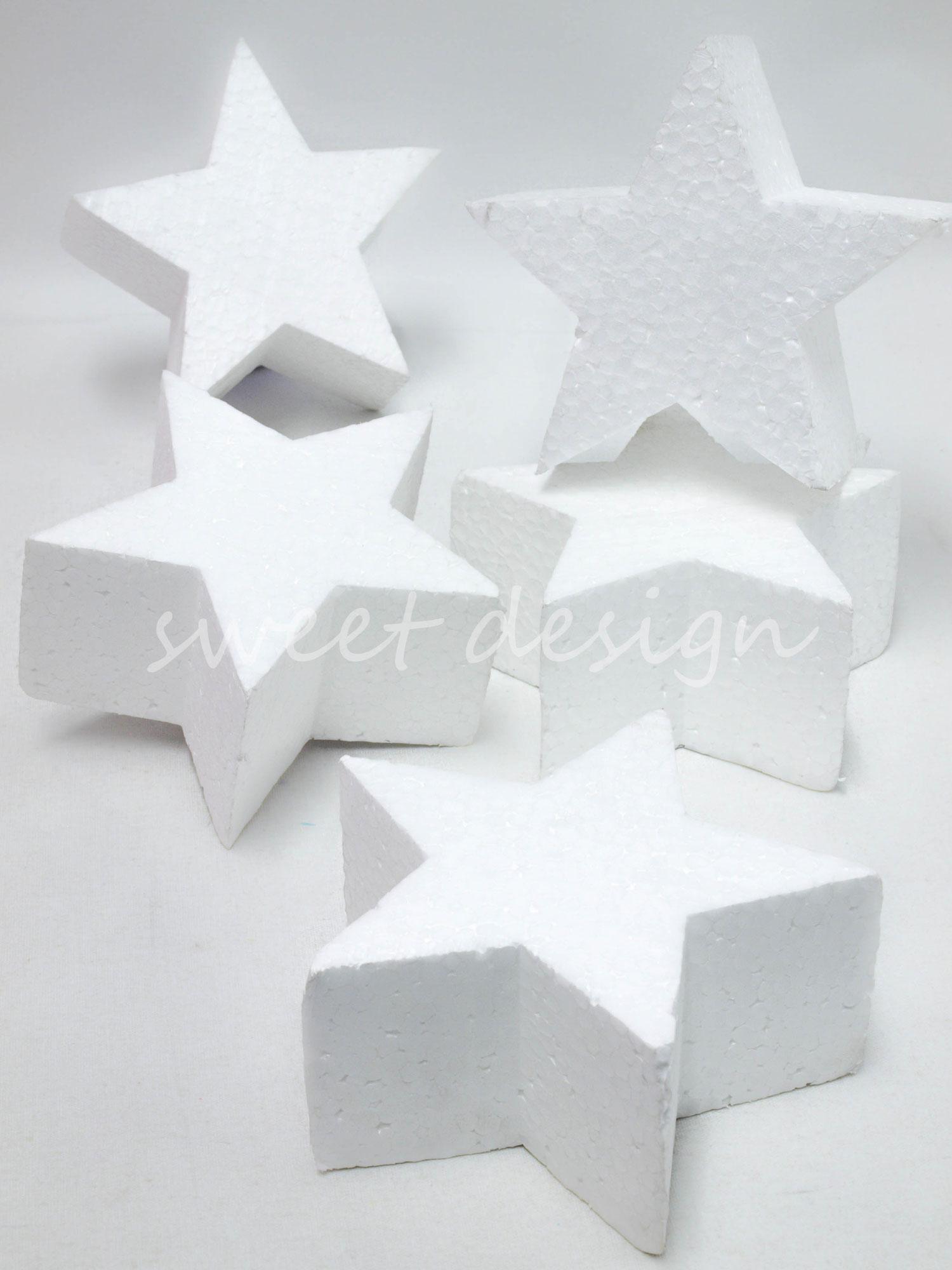 Estrellas de porex sweet design - Laminas de corcho blanco ...