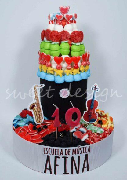 Tarta de Gominolas Gigante para Cumpleaños