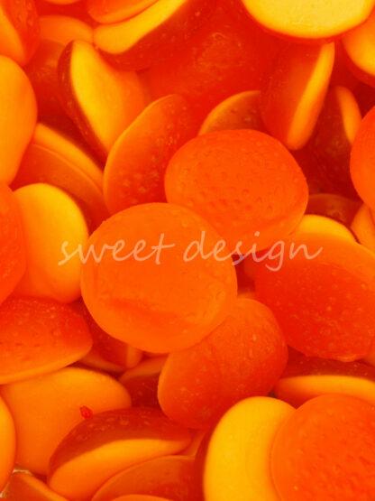 Gominolas Rellenas de Naranja Sin Gluten para cumpleaños